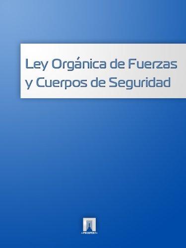 Descargar Libro Ley Orgánica De Fuerzas Y Cuerpos De Seguridad España