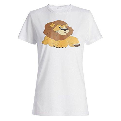 Neue Niedliche Lustige Lächeln Lion Mohnblume Damen T-shirt i357f