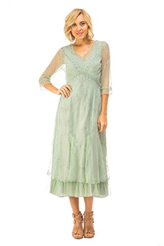(Nataya CL-509 Women's Sophia True Romance Vintage Style Party Dress In Moss (S))