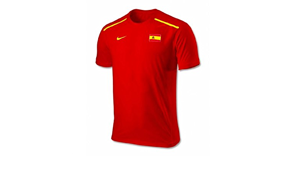 Calumnia barajar recibo  Nike - camiseta, roja, talla L, de Rafael Nadal del equipo olímpico español  y de la Davis Cup: Amazon.es: Deportes y aire libre