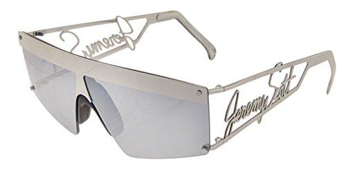 LINDA FARROW Jeremy Scott SIGNATURE Visor Silver Mirrored Sunglasses - Farrow Scott Jeremy Linda