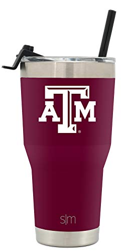 (Simple Modern College Tumbler Straw Texas A&M)