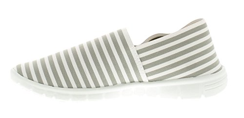 Grey Flats Sizes Womens Grey Faith Stripe Stripe 8 Wynsors UK 3 qpOxtf6wn