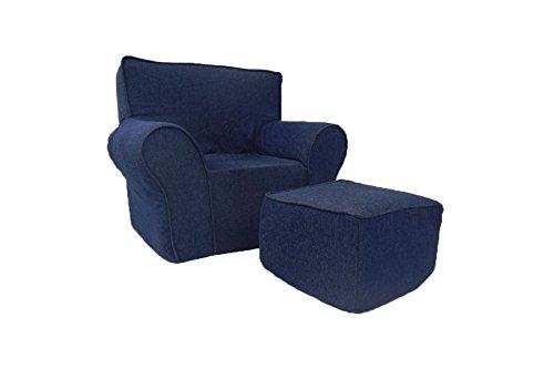 Fun Furnishings Chair and Ottoman, (Overstuffed Chair)