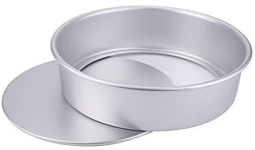 Lawei Anodized Aluminum Round Cake Pan with Re-movable Bottom, 12 x 3 inch ()