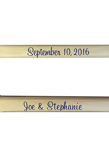 Personalized Set of 2 Paddles Family Name Established, Wedding Names Oar Nautical New Style