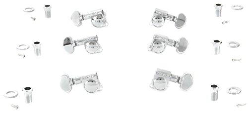 Grover 406C Rotomatic Mini 3 per Side Self Locking Machine Heads, Chrome