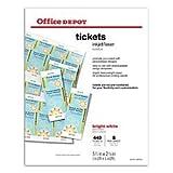 Office Depot(R) Laser/Inkjet Tickets, Pack Of 440 Tickets