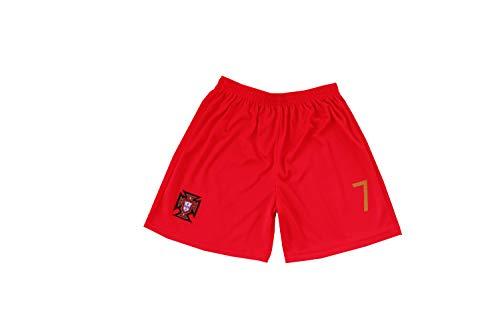 501a5deabd6 FPF 2018 Portugal Cristiano Ronaldo  7 Home Football Soccer Kids Jersey  Short Socks Set Youth