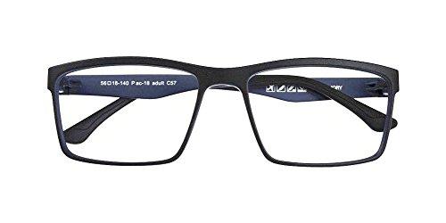 Black + Light Blue Memory ULTEM Flexible Myopia Glasses Men Women Optical Eyeglass Frame Eyewear - Optical Glasses Police