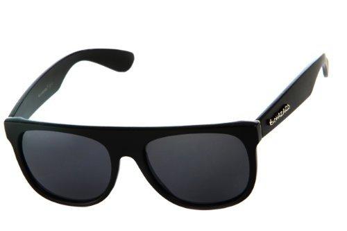 Biohazard Men's Flat Top Square Black with Dark Lens 55mm - Sunnies Top Flat