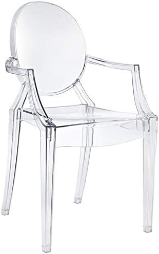 Cheap Hawthorne Collections Modern Acrylic Design Dining Arm Chair dining room chair for sale
