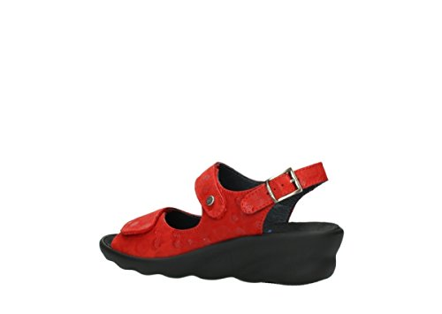 Rouge Comfort Nubuck Wolky Scala Sandales 12500 qdTd8Xx