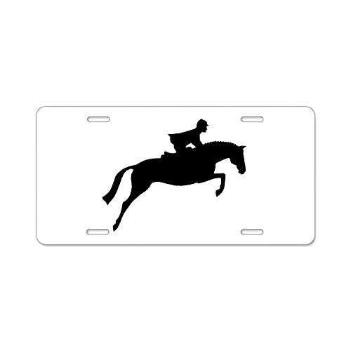 Langquba HJ Horse & Rider Aluminum License Plate, Front License Plate, Personality Vanity Tag 6