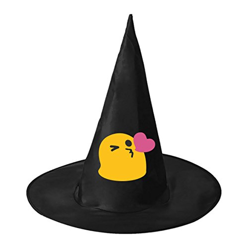 Costumes Pictures Halloween Funniest (Halloween Witch Hat Caps Decorations Cute Emoji Adult Womens Black Witch Hat For Halloween Christmas Party Costume)