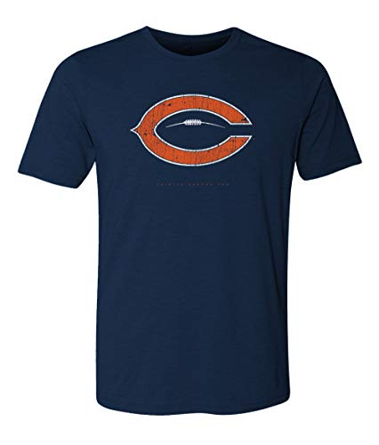 Chicago C Football T Shirt Mens Vintage 2018 - Soft Style ()