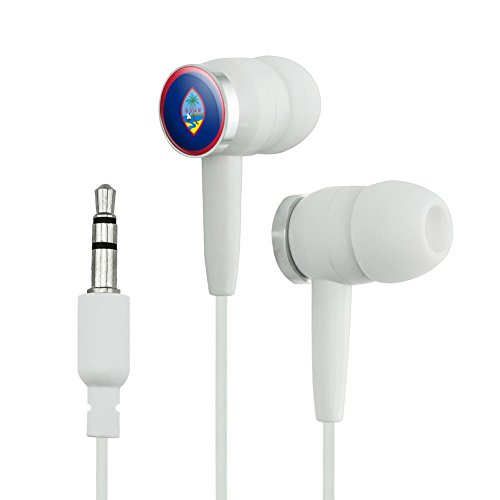 Guam National Country Flag Novelty In-Ear Earbud H...