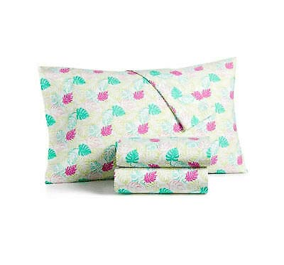 Martha Stewart Collection Face Palm Twin Sheet Set (Martha Stewart Pillowcase)