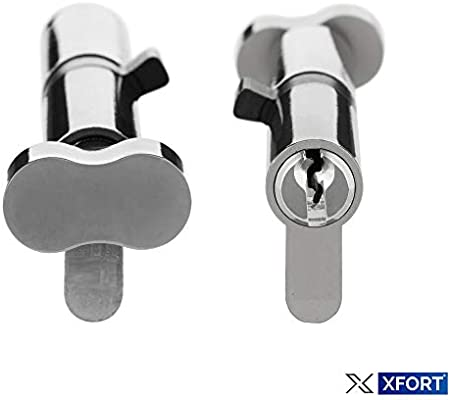 Thumb Turn Cylinder Euro Barrel Lock UPVC Doors Anti Pick Anti 80mm 40//40 3 Key