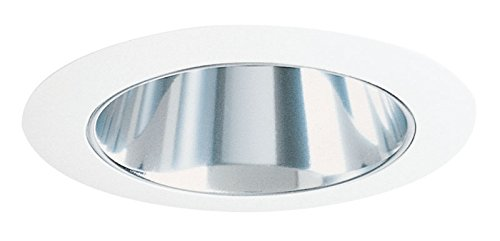 Juno Lighting 17C-WH 4-Inch Recessed Trim, Clear Alzak with White Trim