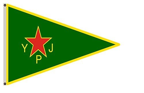 Large Flag Women s Protection Units YPJ Flag ; female brigade of the official armed wing of the Kurdish Supreme Committee Flag 3x5ft banner For Sale