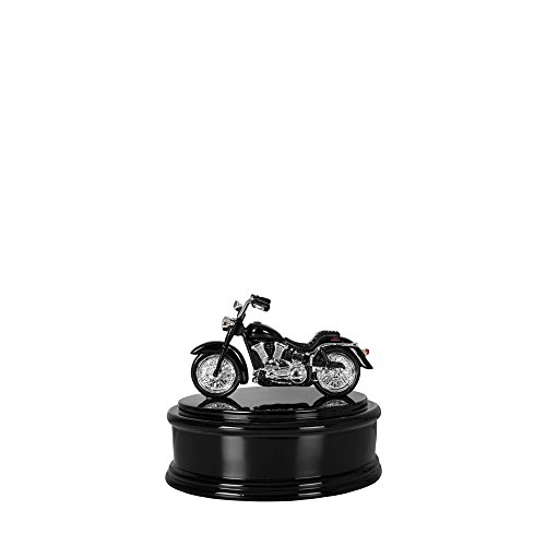 Perfect Memorials Small Black Chrome Motorcycle Cremation Urn Highly Detail