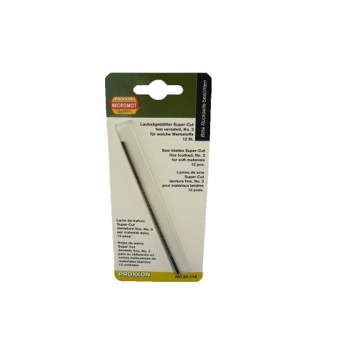 Proxxon 28118 Super-Cut Scroll Saw Blades, Standard (Super Fine Cut Saw)