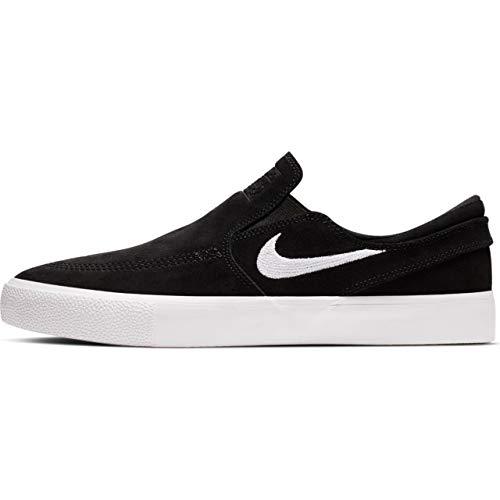 Nike SB Zoom Stefan Janoski Slip RM Men's Shoes - AT8899 (13 M US, Black/White-White)