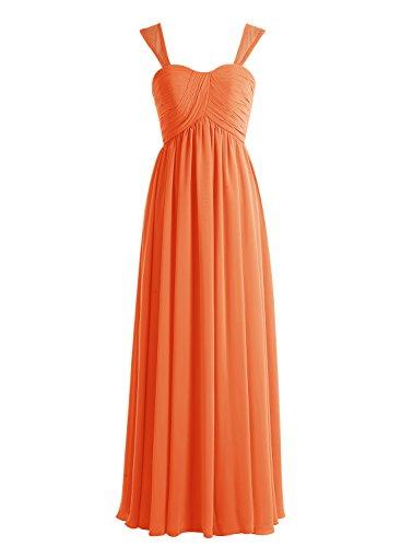 Bbonlinedress 2016 Chiffon A Line Floor Length Sweetheart Evening Prom Bridesmaid Dresses Orange 26W - Eden Junior Bridesmaid Dress