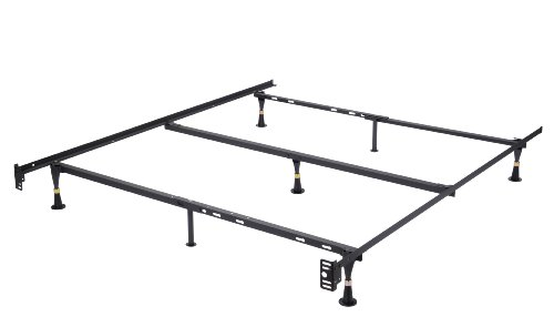 Kings Brand Furniture 7-Leg Heavy Duty Metal Queen Size Bed Frame with Center Support and Glides Only by Kings Brand Furniture
