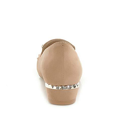 apricot Dress Structured Studded BalaMasa Urethane APL10775 Shoes Womens Pumps fwAqqxzZ