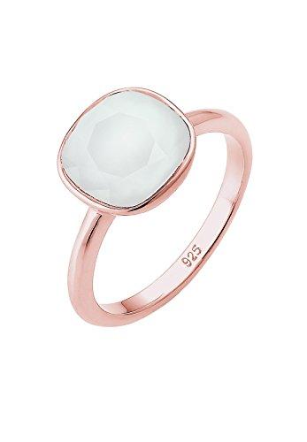 Elli-Damen-Ring-Vergoldet-Kristall-grau-Prinzess