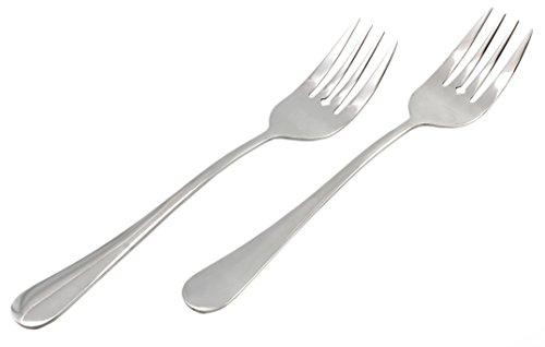 Serving Fork (2 Pack) Set of Two (2)- Elegant Top of the Line Serving Forks, Serving Utensil, Buffet & Banquet Style Serving Forks, 9' Durable Stainless Steel with Mirrored Finish