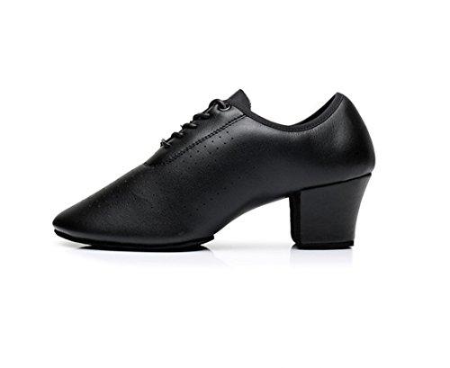 Adulte Noir Marié Chaussures De Avec Souple Bas Danse Latines Femme Tmkoo Cuir xYqw5PAvng