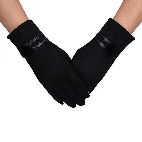 Enrique Herndon Fashion Winter Warm Women Button Phone Touching Gloves