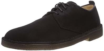 Clarks Mens Black Desert London Suede Shoes (40 M EU)