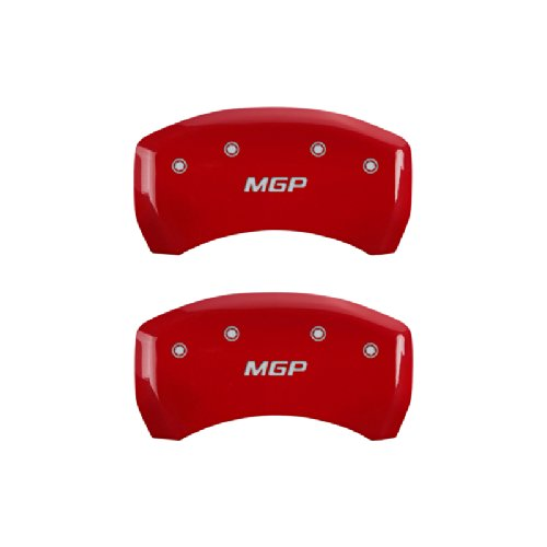 MGP Caliper Covers 17112SMGPRD 'MGP' Engraved Caliper Cover with Red Powder Coat Finish and Silver Characters, (Set of 4) by MGP Caliper Covers (Image #2)