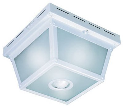 Heath Zenith Motion Activated Outdoor Ceiling Light 5.5 In. Wht