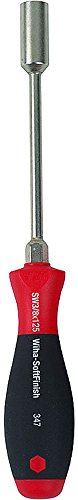 Wiha 34718 Nut Driver with Hex Bolster and SoftFinish Handle, 9.0 x 125mm