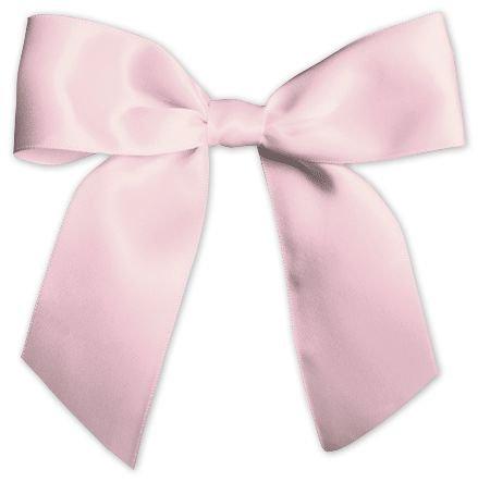 - Bows - Pink Pre-Tied Satin Bows, 7/8