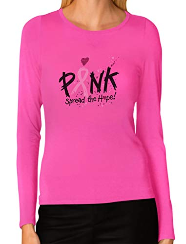 (Breast Cancer Awareness Apparel - Women's Long Sleeve T-Shirt XX-Large Pink )