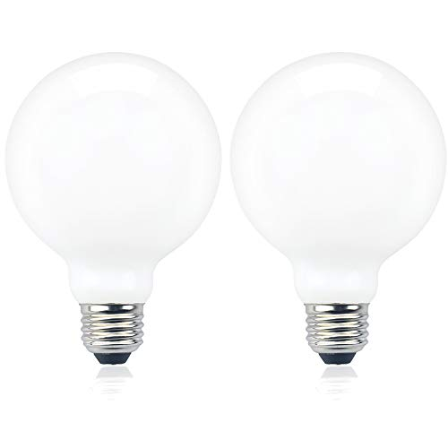 Luxvista G95/G30 LED Bulb 10W G95/G30 Globe Light Bulbs 100W Halogen Bulb Equivalent, E26 Medium Base Light Bulb for Ceiling Light, Fixture Light, Chandelier Light, Vanity Mirror