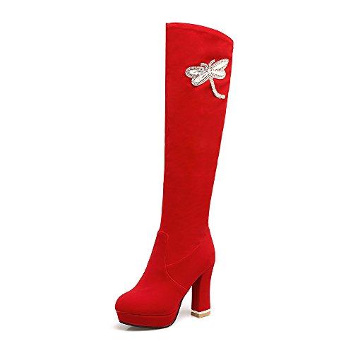 a Botas JIEEMEza861 la Para moda Rojo mujer rxrwBq