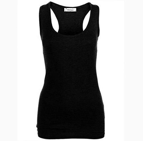 REAL LIFE FASHION LTD - Camiseta sin mangas - Básico - para mujer negro