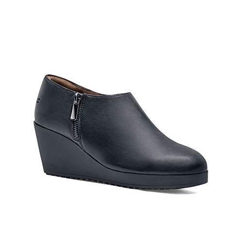 (Shoes For Crews Women's Selene Slip Resistant Hospitality Platform, Black, 6.5 Medium US)