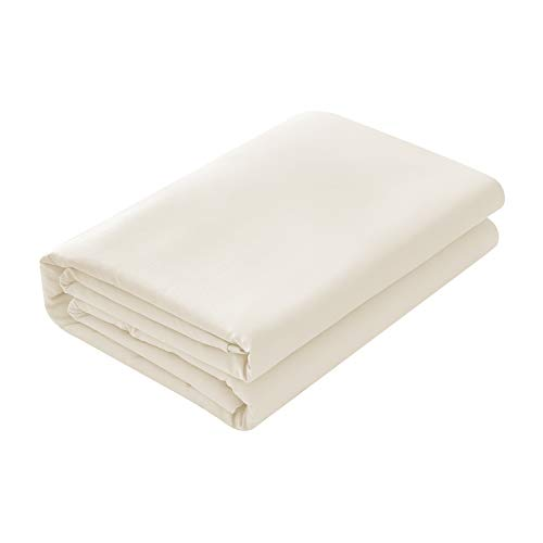Basic Choice Flat Sheet, Breathable, Extra Soft Microfiber 2000 Bedding Top Sheet - Wrinkle, Fade, Stain Resistant - Hypoallergenic - (Ivory, King or California ()