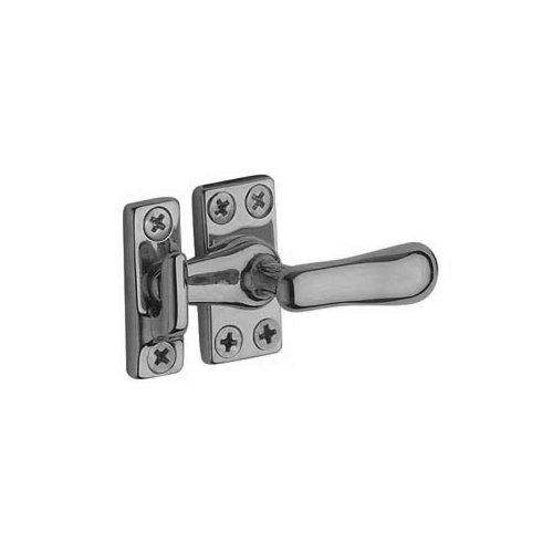 Casement Brass Satin Fastener - Baldwin 0491.264 Casement Fastener with Surface Strike, Satin Chrome