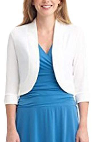 Xx Taille Tenue couleur Veste Travail Femme Courte manches Devant Yisaesa large Ouvert Blanc Décontractée Demi O7ZqUw0