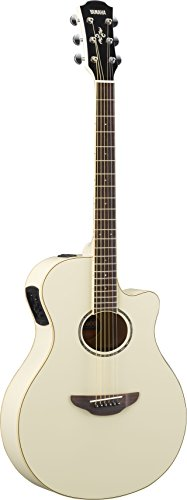 Yamaha APX600 VW Thin Body Acoustic-Electric Guitar, Vintage White (Best Classical Guitarists Today)