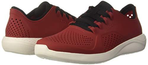Crocs Men's LiteRide Pacer M Sneaker, Black/Pepper/White, 4 Medium US